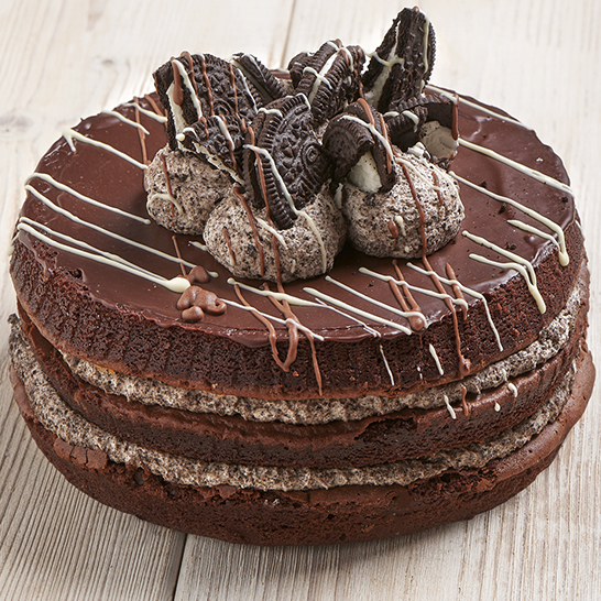 Chocolate cookie layer cake