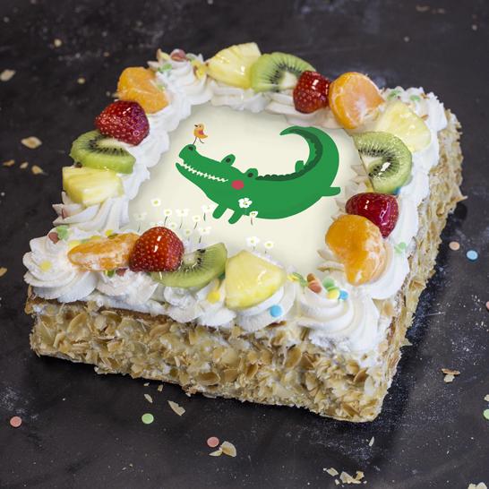 Kindertaart Krokodil