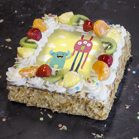 Monstertaart geel