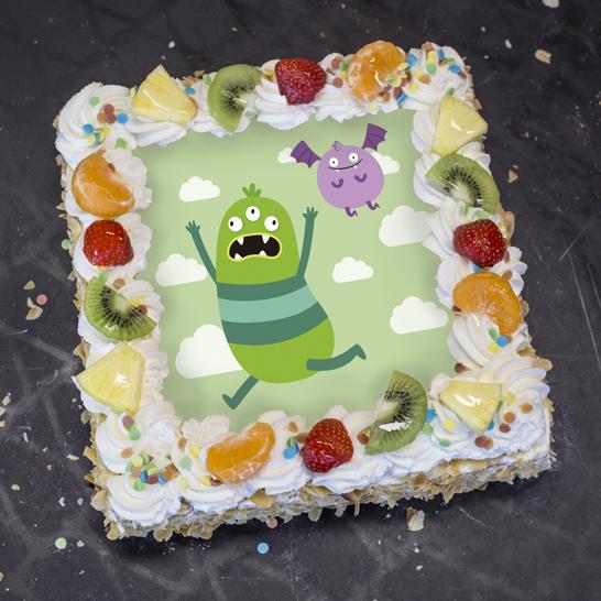 Monstertaart groen